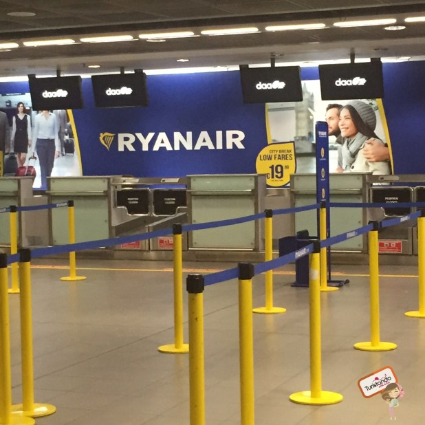 Terminal de auto atendimento para despacho de bagagens Ryanair