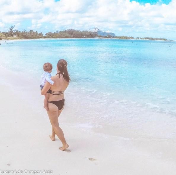 destinos para viajar com bebês bahamas