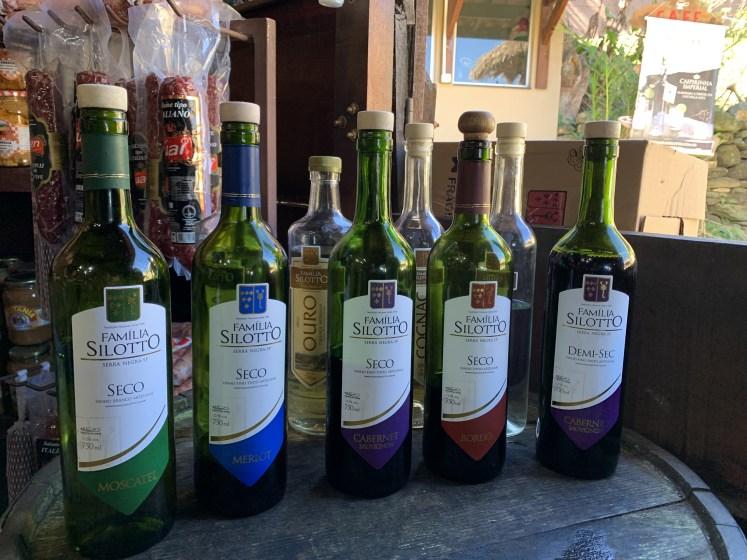 degustação de vinhos família silotto