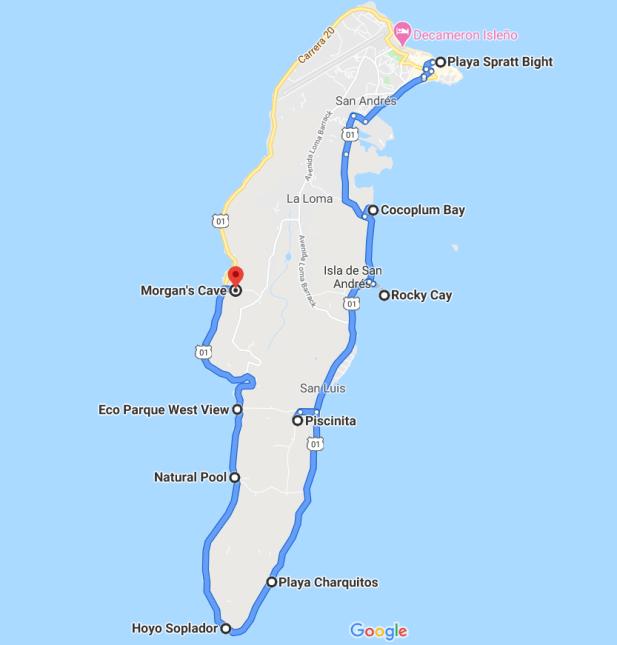 atrações do ilha tour de San Andrés
