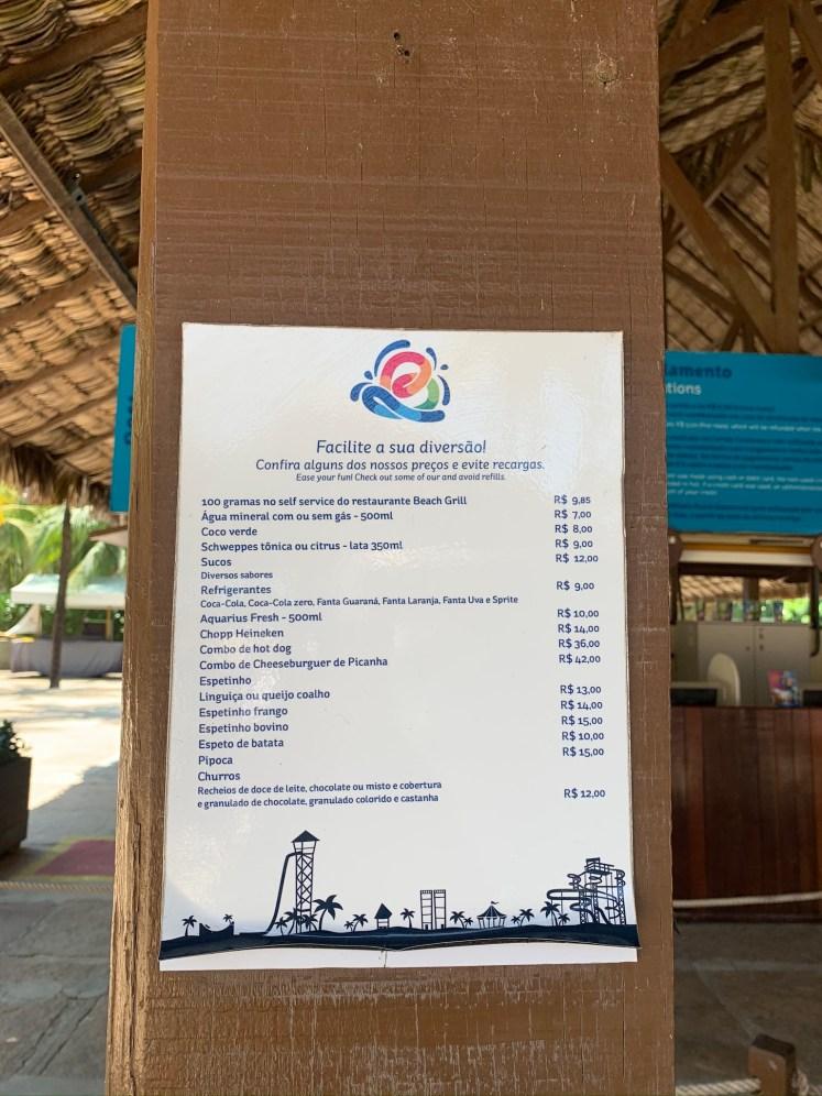 Preços do Beach Park Fortaleza