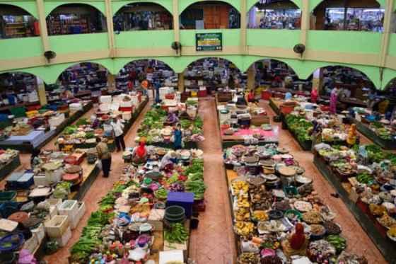 Mercado Central de Kota Bharu.