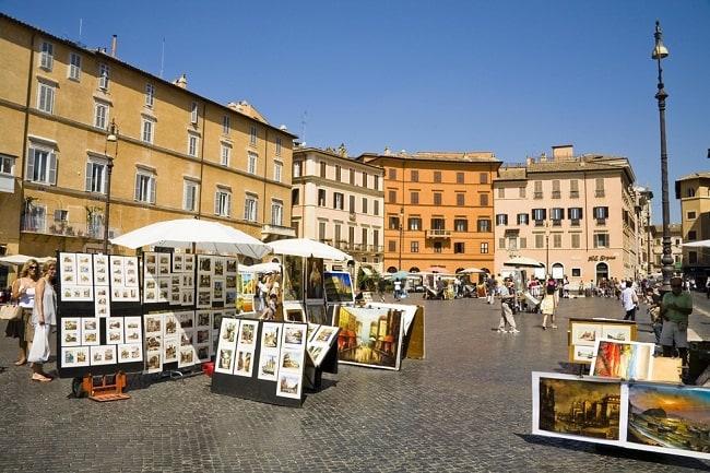 Plaza Navona de Roma.