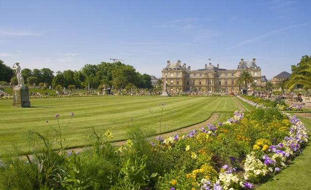 Los jardines de Luxemburgo en primavera.