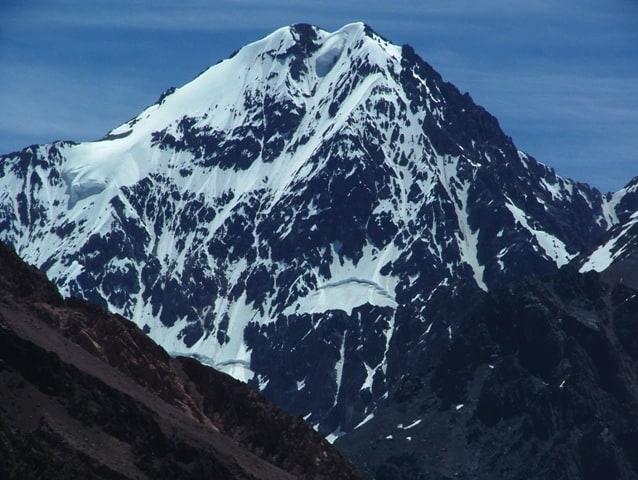 Monte Aconcagua de la Cordilera de los Andes.