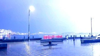Photo of عواصف رعدية شديدة أضاءت سماء اسطنبول