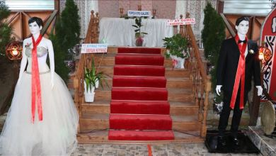 Photo of تركيا.. مجسمان بدلا من العروسين لقبول نقوط الزفاف