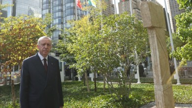 Photo of أردوغان ينشر صورة من زيارته لمسلة تركية بمقر الأمم المتحدة