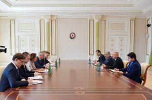 Prezident İlham Əliyev Fransanın İqtisadiyyat və Maliyyə nazirinin başçılıq etdiyi nümayəndə heyətini qəbul edib