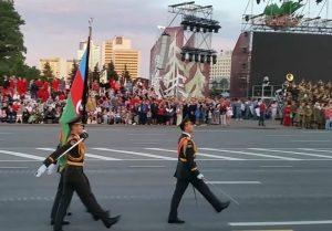 Azərbaycan hərbçiləri Minskdə keçirilən hərbi paradda iştirak ediblər