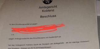 Koblenz məhkəməsinin qərarı