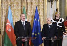Azərbaycan Respublikasının Prezidenti İlham Əliyev və İtaliya Respublikasının Prezidenti Sercio Mattarella