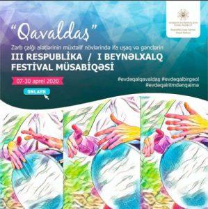 """""""Qavaldaş"""" onlayn beynəlxalq festival-müsabiqəsi"""
