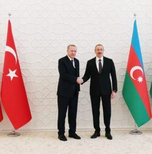 Türkiyə Respublikasının Prezidenti Rəcəb Tayyib Ərdoğan və Azərbaycan Respublikasının Prezidenti İlham Əliyev