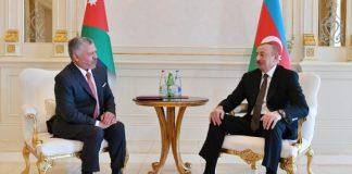 İordaniyanın Kralı II Abdullah ibn Al Hüseyn və Azərbaycan Respublikasının Prezidenti İlham Əliyev
