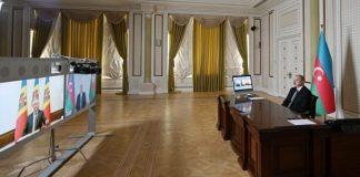 Azərbaycan Prezidenti İlham Əliyevlə Moldova Prezidenti İqor Dodon arasında videokonfrans formatında görüş
