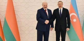 Belarus Respublikasının Prezidenti Aleksandr Lukaşenko və Azərbaycan Respublikasının Prezidenti İlham Əliyev