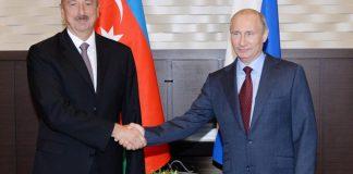 Rusiya Federasiyasının Prezidenti Vladimir Putin və Azərbaycan Respublikasının Prezidenti İlham Əliyev
