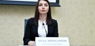 AzərbaycanXarici İşlər Nazirliyinin Mətbuat Xidməti İdarəsinin rəisi Leyla Abdullayeva
