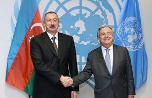 Azərbaycan Respublikasının Prezidenti İlham Əliyev və BMT-nin Baş katibi Antonio Quterreşə