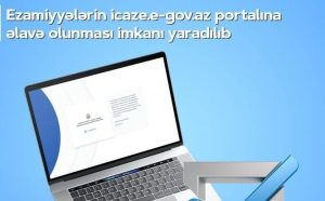 ezamiyyələrin icaze.e-gov.az portalına əlavə olunması
