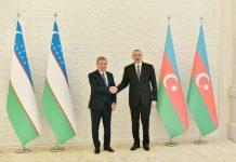 Prezident İlham Əliyev vəÖzbəkistan Prezidenti Şavkat Mirziyoyev