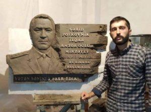 Şəhid polkovnik İlqar Mirzəyevin barelyefi