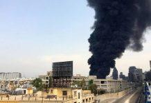 Livanın paytaxtı Beyrut şəhərinin dəniz limanının ərazisində yeni yanğın başlayıb