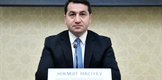 Prezident Administrasiyası Xarici siyasət məsələləri şöbəsinin müdiriHikmət Hacıyev