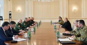 Prezident İlham Əliyev Rusiyanın müdafiə nazirinin başçılıq etdiyi nümayəndə heyətini qəbul edib