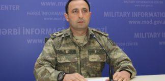 Müdafiə Nazirliyinin mətbuat xidmətinin mətbuat katibi polkovnik-leytenant Anar Eyvazov