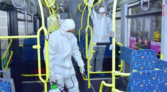 marşrut avtobuslarının dezinfeksiyası