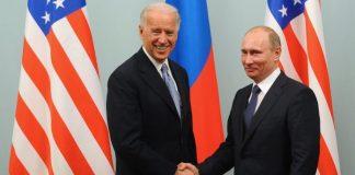 Cozef Bayden və Vladimir Putin
