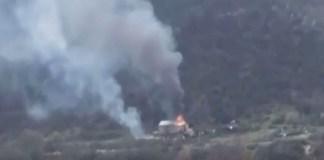 Ermənilər Qafan yaxınlığında boşaldılan kəndi də yandırdı