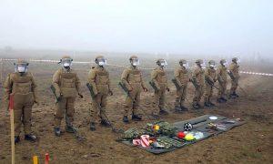 Türkiyəli hərbi istehkamçılar mühəndis təminatı üzrə məşqlər keçirlər