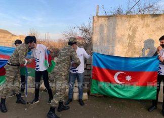 Vətən Müharibəsi iştirakçısı olan qardaşlar Biləsuvarda coşqu ilə qarşılandı