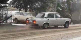 Qarlı yollarda avtoxuliqanlıq edən sürücülər saxlanıldı