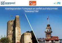 """Türkiyənin ən sərfəli pul köçürmələri """"Azərpoçt""""da"""
