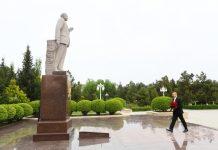 Prezident İlham Əliyev Hacıqabul rayonuna səfərə gəlib