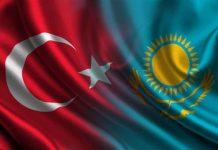 Qazaxıstan və Türkiyə bayraqları