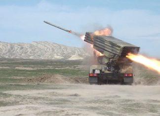 raket-artilleriya batareyalarının döyüş atışlı taktiki təlimləri
