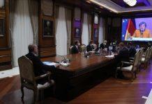 Türkiyə Prezidenti Rəcəb Tayyib Ərdoğan ilə Almaniya Kansleri Angela Merkel arasında videoformatda görüş