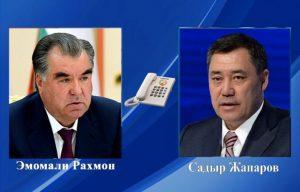 Qırğızıstan Prezidenti Sadır Japarov və Tacikistanın dövlət başçısı Emoməli Rahmon
