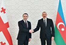 İrakli Qaribaşvili və İlham Əliyev