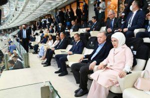 Bakı Olimpiya Stadionunda Avropa çempionatının final mərhələsinin Türkiyə-Uels matçı keçirilib