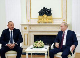 Azərbaycan Respublikasının Prezidenti İlham Əliyev ilə Rusiya Federasiyasının Prezidenti Vladimir Putin arasında görüş