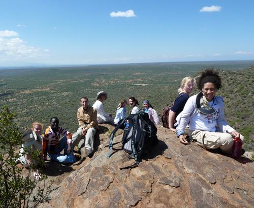 TBI Fall 2014 students on the summit of Mukenya