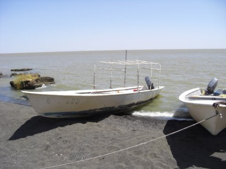 The mighty vessels that took us across Lake Turkana.