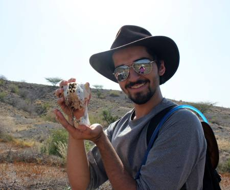 Students found some other skeletons along the way. Evan found the skull of a goat!