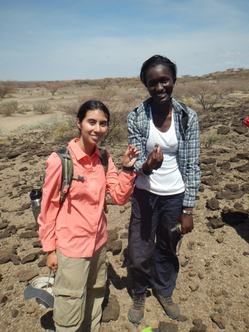 Carla and Esther pose with their pair of talus's!